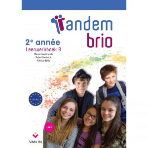 voorpagina van taalmethode met leerlingen op