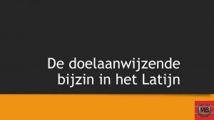 slide uit presentatie Latijn