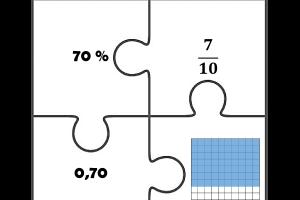 Voorbeeld uit: Puzzels breuk - percent - kommagetal.docx