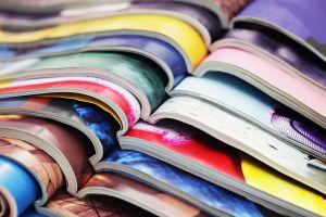 magazines op een stapel