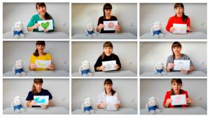 Verzameling van screenshots van de negen filmpjes