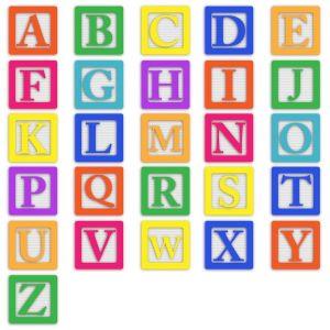 het alfabet in kleurige letters
