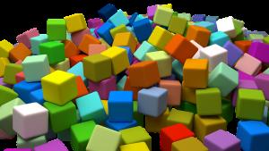 gekleurde blokken