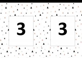 Deel van de nummering hoekenwerk, hier hoek 3