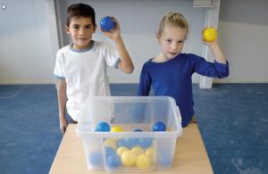 Kinderen aan de ballenbak materialenset zoWISo