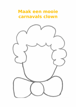 Voorbeeld van de carnavalsclown