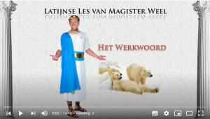 eerste slide van video Latijnse les