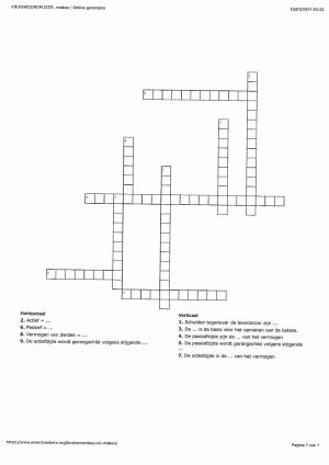 Voorbeeld uit: Kruiswoordraadsel de balans.pdf