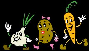 Ui, aardappel en wortel