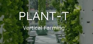 Screenshot website met titel PLANT-T vertical farming