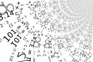 wiskundige tekens door elkaar