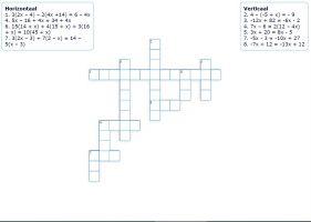 Voorbeeld leermiddel - kruiswoordraadsel