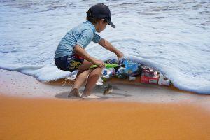 afval in zee