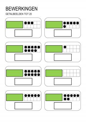 Voorbeeld uit getalbeelden tot en met 20