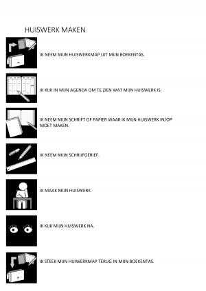 Voorbeeld uit: Stappenplan - huiswerk maken .pdf