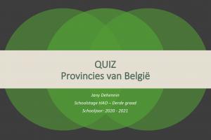 Voorbeeld uit: WERELDORIËNTATIE - QUIZ - Provincies van België.pptx