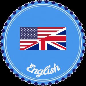 Button met de Britse en Amerikaanse vlag