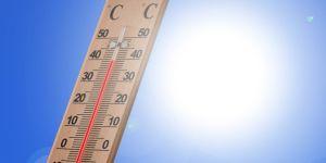 Thermometer in de zon