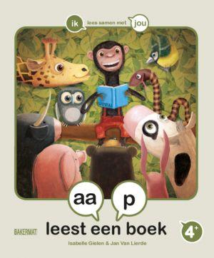 Cover boek Aap leest een boek
