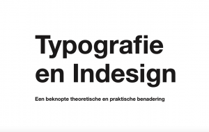 Screenshot of the learning resource: typography and Indesign