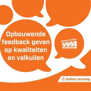 Online vorming 'Opbouwende feedback geven op kwaliteiten en valkuilen' op vrijdag 12 maart