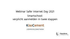 Voorbeeld van video 'Safer Internet Day 2021 : Smartschool verplicht aanmelden in twee stappen'