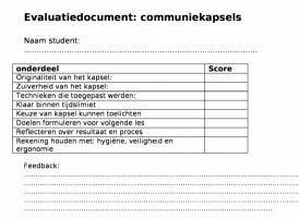 Voorbeeld uit: Evaluatiedocument leerkracht.odt