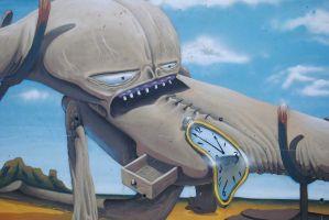 Graffiti geïnspireerd door Salvador Dali