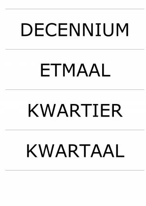 Voorbeeld uit: kaartjes rekenen tijd lengte.pdf