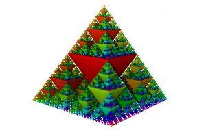 Voorbeeld driehoek van Sierpinski