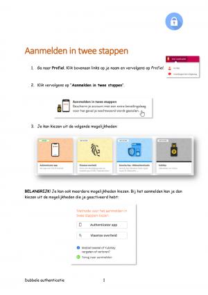 Voorbeeld uit: Dubbele authenticatie.pdf