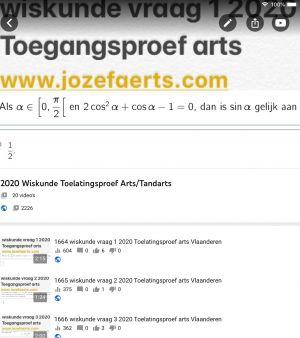toegangsproef arts www.jozefaerts.com