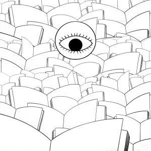 boeken en oog