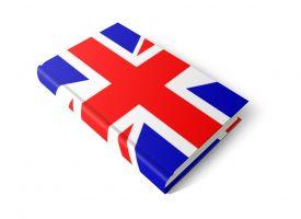 Boek met de Engelse vlag