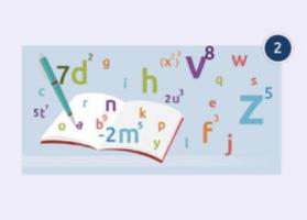 Boek met pen, cijfers en letters