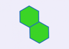 two green hexagons