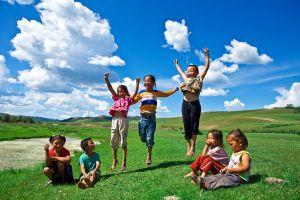 Kinderen spelen buiten