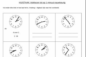 Voorbeeld uit: klok 1 minuut.pdf