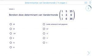 Voorbeeld oefening wiskunde