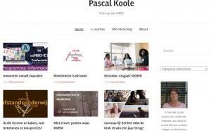 Screenshot startpagina blog