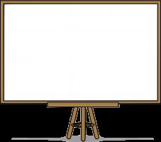 Projectiescherm / whiteboard