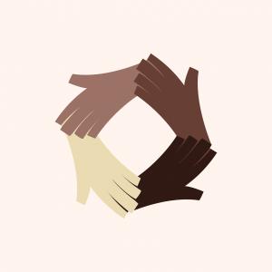 handen in verschillende huidskleuren