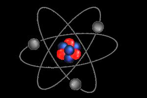 rode en blauwe bolletjes waarron zwarte bolletjes draaien