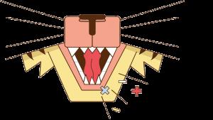 illustratie van de mond van een dier