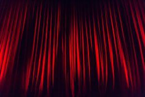 gordijnen in een theater