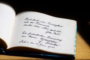 gedicht in een boek