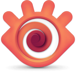 Het logo van XnView MP.