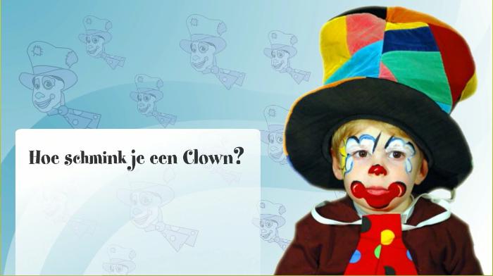 Hoe Een Clown Schminken Video Klascement