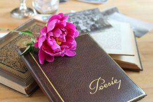 Boekje met poëzie erop