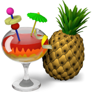 Handbrake logo: cocktail en annanas